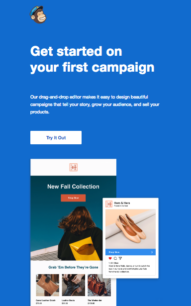 This is an image on the churn buster blog. This post is all about the retention emails saas and subscription based businesses should be sending. This is an image of an activation email from Mailchimp.