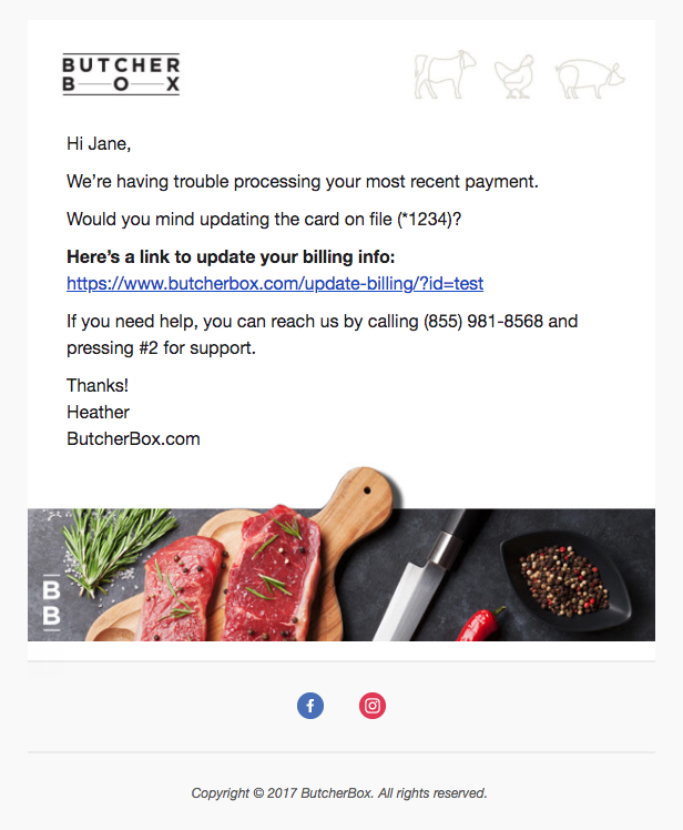 butcher box email