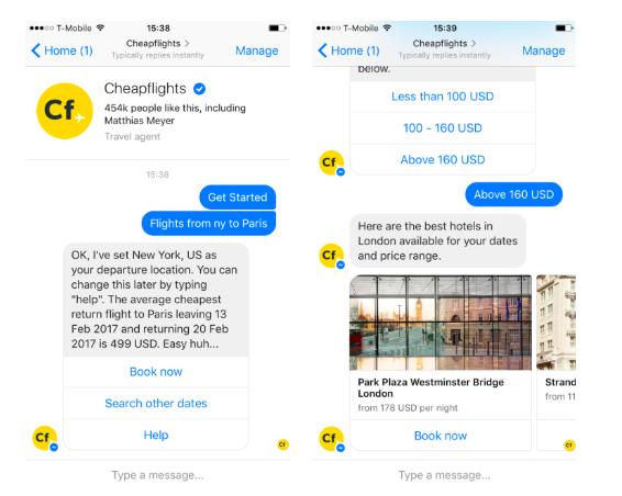 chatbot cheapflights